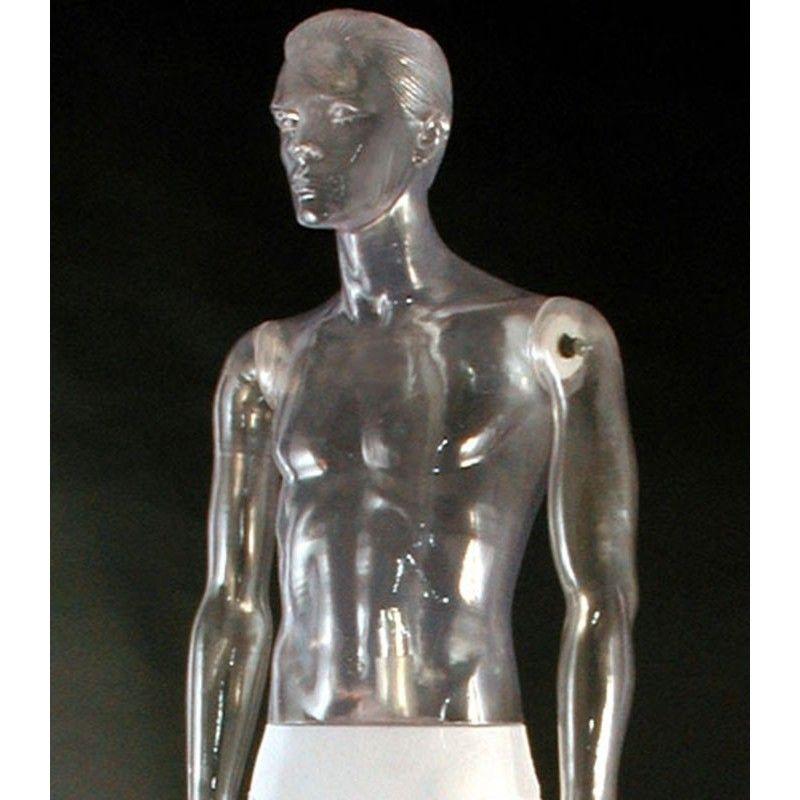 Transparent mannequin male 111nt