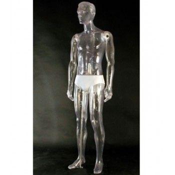 Mannequin vitrine homme transparent 111nt