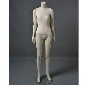 Manichino donna cltd26 senza testa bianco