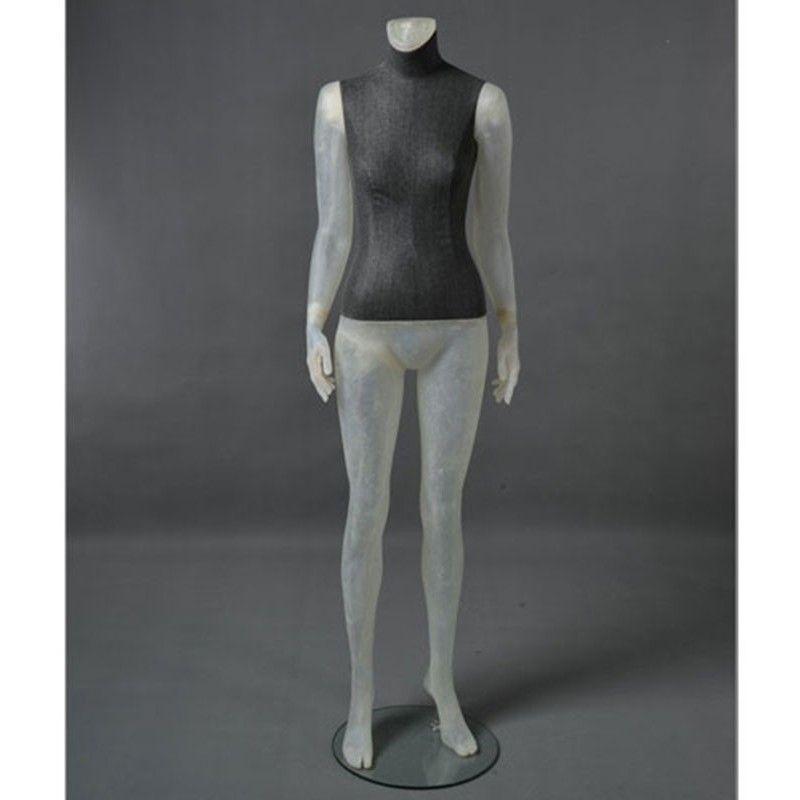 Mannequin vitrine femme cltd26 transparent sans tê