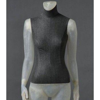 Maniquí senora cltd26 sin cabeza transparente