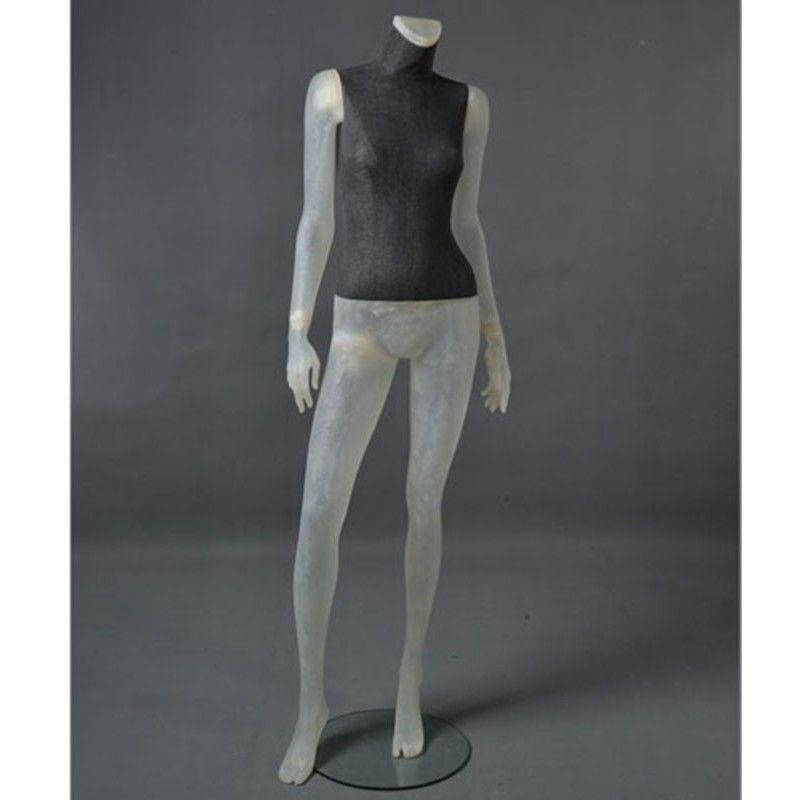 Maniquí mujer cltd12 transparente sin cabeza