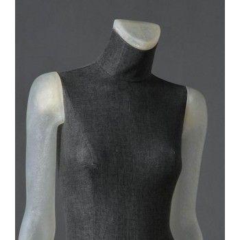Mannequin vitrine femme clt12 transparent sans têt