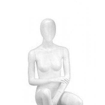 Weibliche sitzende Schaufensterpuppe mit Kopf Y646