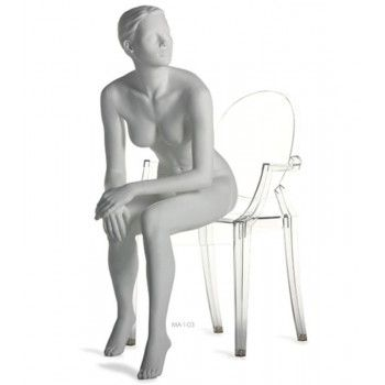 SEATED MANNEQUIN WOMAN RUN...