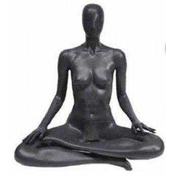 Mannequin vitrine femme yoga position du lotus