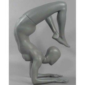 Mannequin de vitrine femme yoga avec tête abstraite