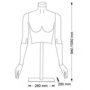 Mannequin femme flexible flexible bust f