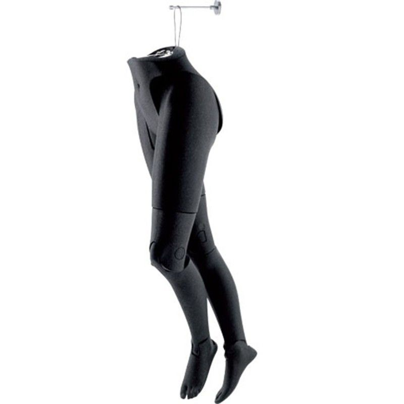Woman flexible mannequin female legs hanging