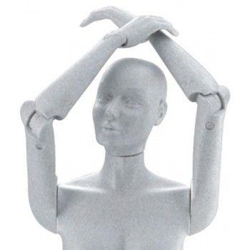 Vollbewegliche figuren schaufensterpuppe damen fle