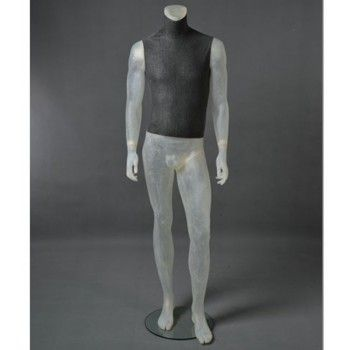 Display man mannequin cltu20 translucent headless