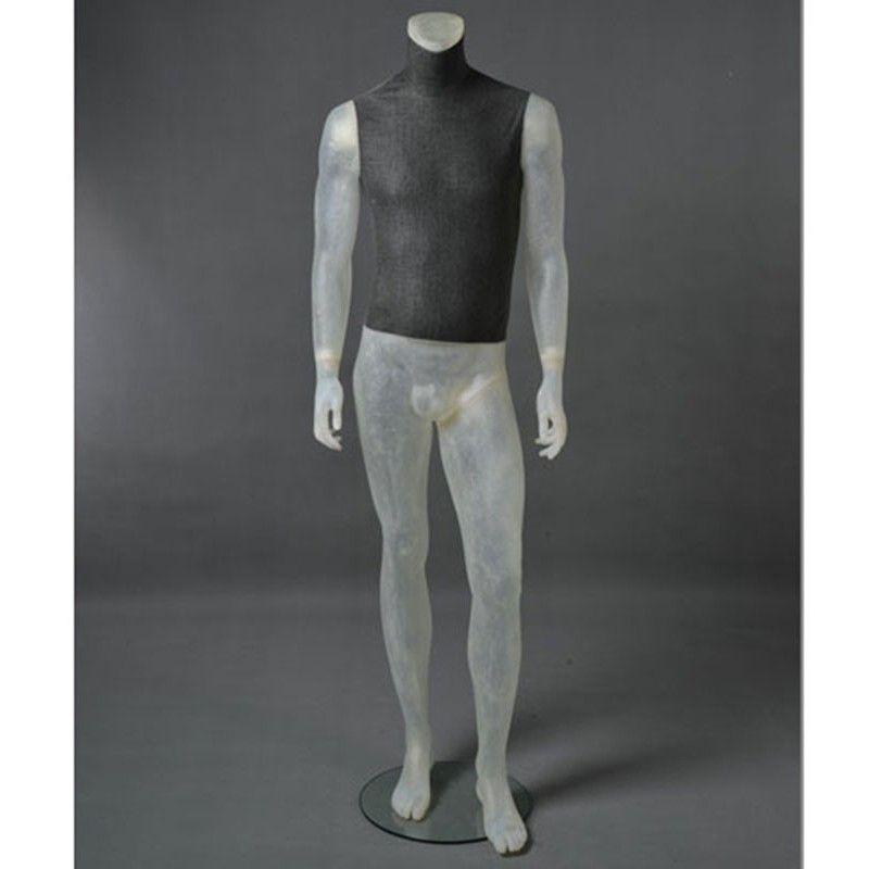 Mannequin vitrine homme cltu20 transparent sans tête