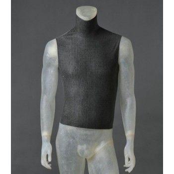 Mannequin vitrine homme cltu20 transparent sans tê