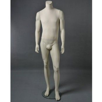 Display mannequin man cltu20 white headless