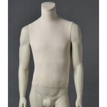 Mannequin vitrine homme cltu20 blanc sans tête
