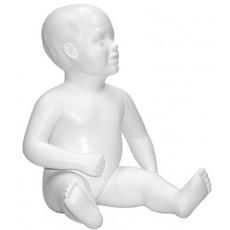 Mannequin stylisé bébé, mannequin enfant assis