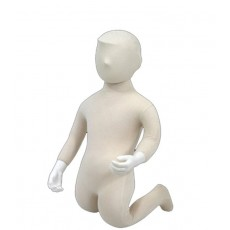 Child flexible mannequin with head