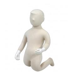 Mannequin enfant flexible 1 an avec tete