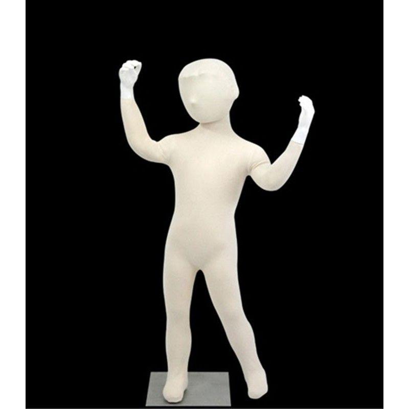 Kind-mannequin-kopf mit flexiblen 4 jahre