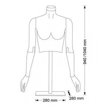 Buste femme mannequin buste flex f