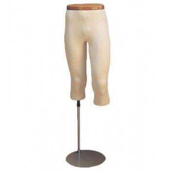Pierna maniquí hombre 3/4 piernas jersey
