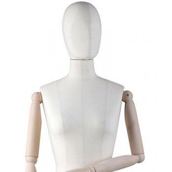 Buste femme couture avec bras en bois