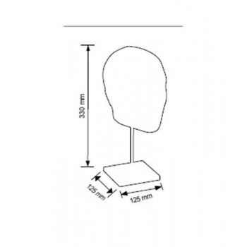 Male mannequin head 4010bqs