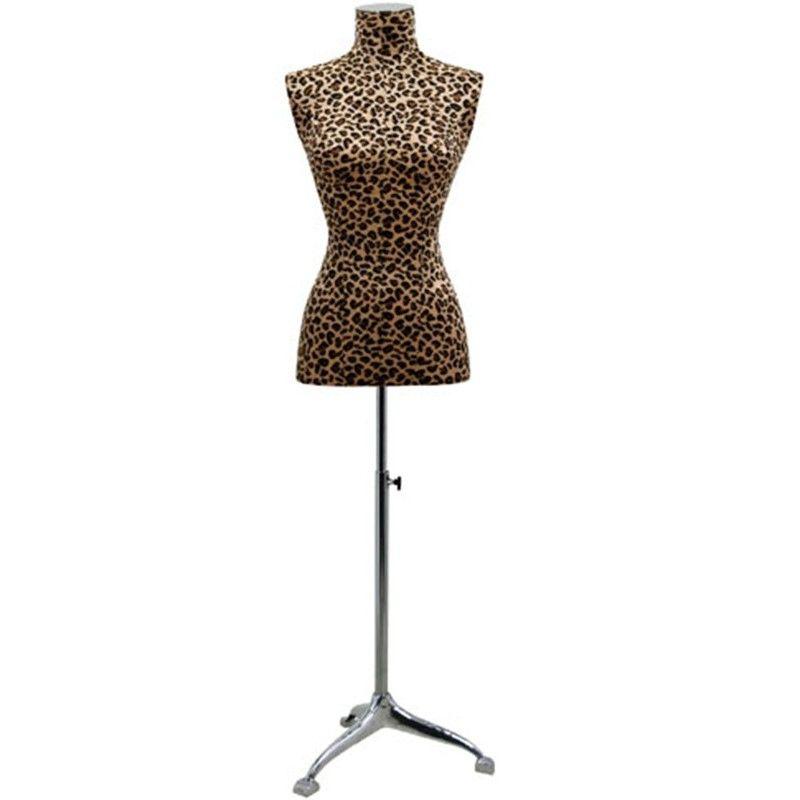 Woman tailored bust mannequin buste léopard