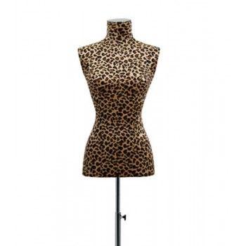 Buste couture femme mannequin buste léopard