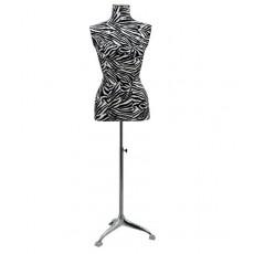 Mannequin buste couture femme buste zèbre blanc