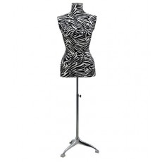 Mannequin tailored bust woman buste zebra white