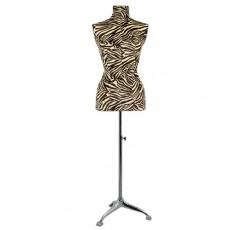 Mannequin buste couture femme buste zèbre beige