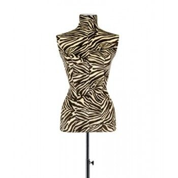 Mannequin woman tailored bust buste zèbre beige