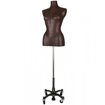 Buste cuir marron femme bc956-108