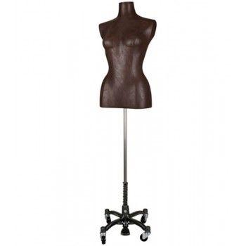 Bustes couture femme fantaisie - Buste cuir marron femme bc956-108