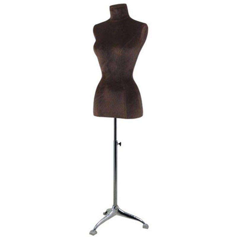 Mannequin buste couture femme bust brown velvet