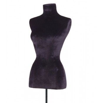 Mannequin woman tailored bust black velvet