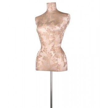 Tailored bust mannequin woman buste brocart