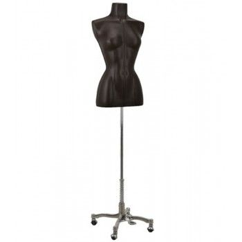 Woman tailored bust mannequin bust brown leather