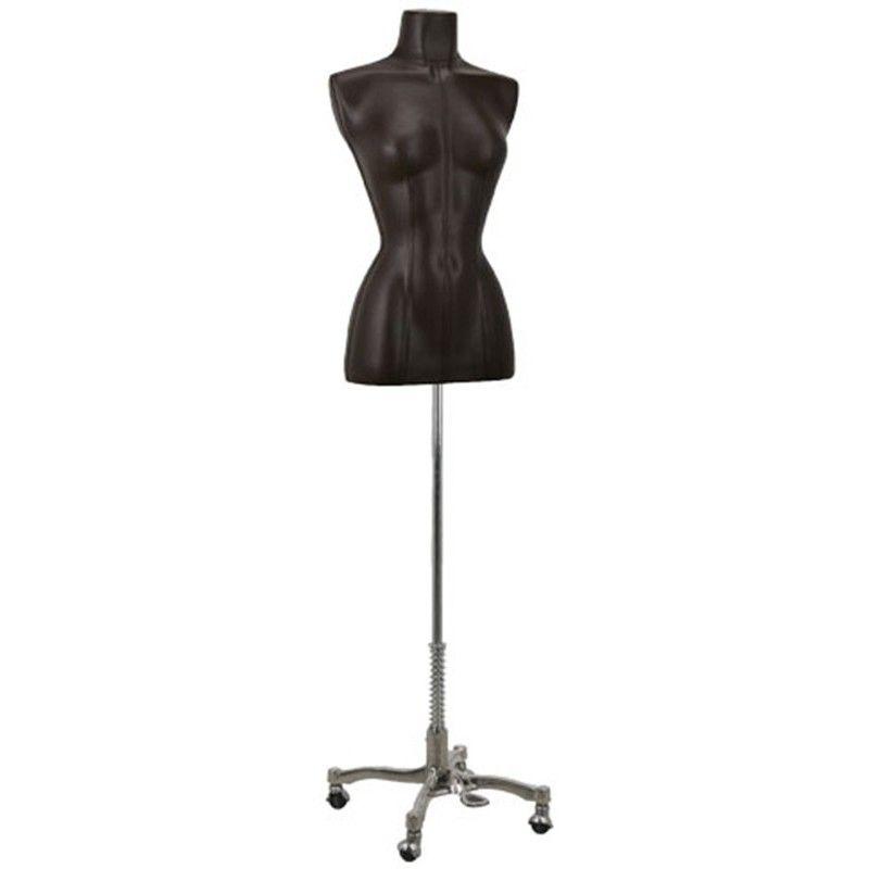Buste couture femme en cuir marron