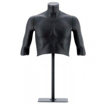 Büste herren schaufensterpuppe flexibel schwarz
