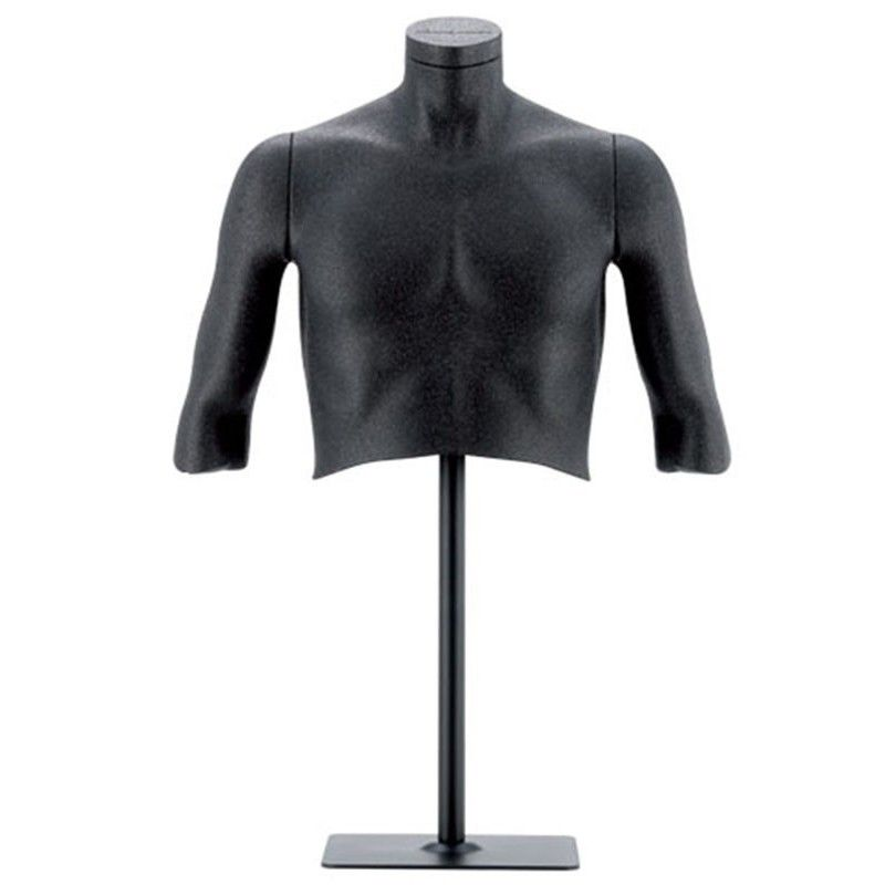 Mannequin bust man flexible black