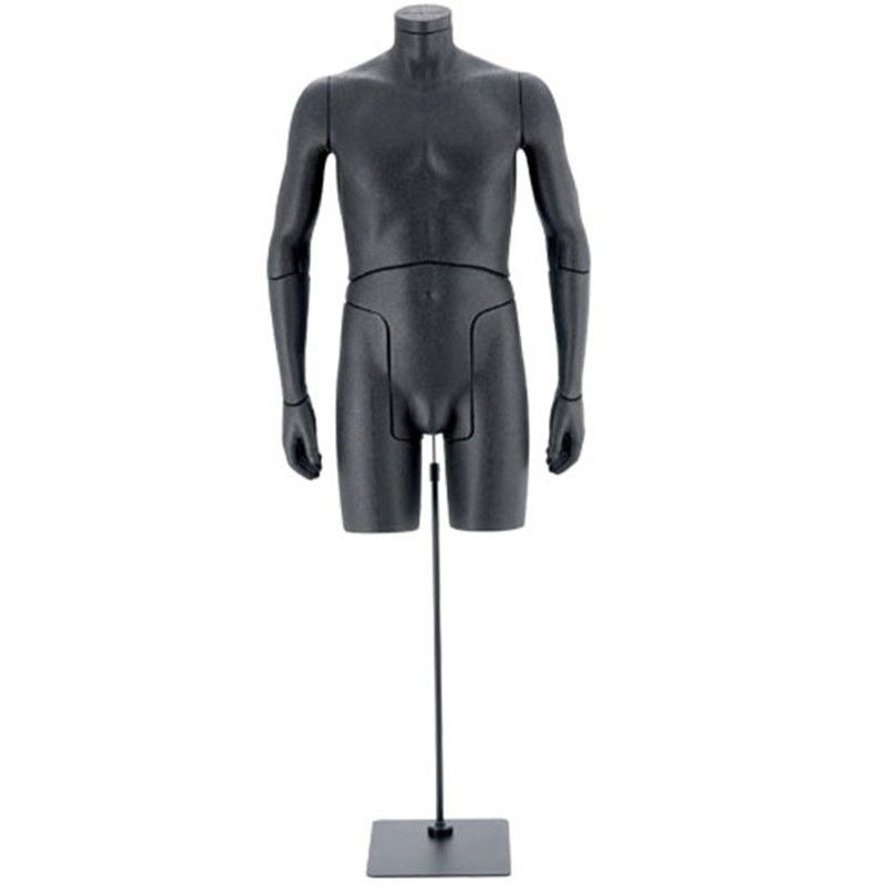 Mannequin man bust flexible black 0001b