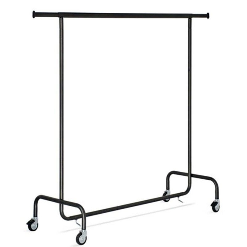 Fix garment rail charcoal grey st20982
