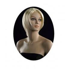 Peluca señora : maniquí peluca rubio corto ma-pf-12/613