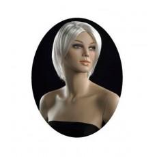 Peluca señora : maniquí peluca color rubio platino