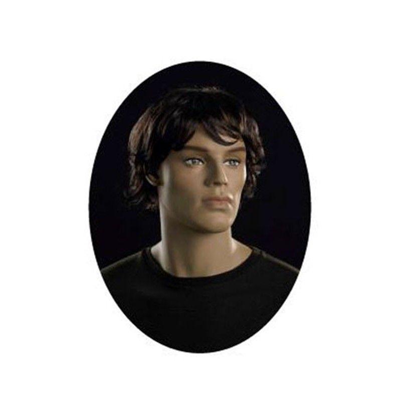 Peluca hombre : maniquí peluca pelo castaño y corto
