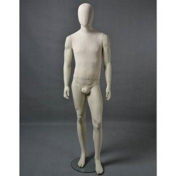 Mannequin homme abstrait - Mannequin vitrine homme cltu20 blanc