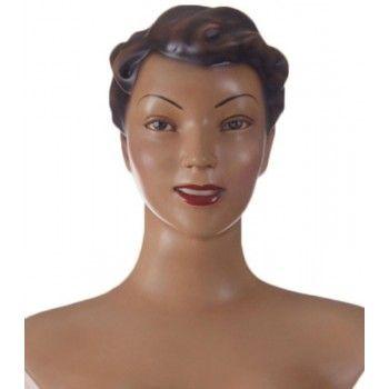 Mannequin femme rétro : Buste vintage femme Agnes