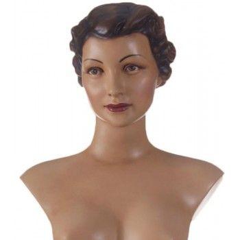 Vintage female mannequin: Retro female bust Pauline